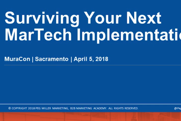 Surviving Your Next MarTech Implementation
